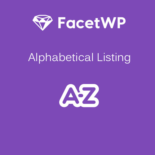 FacetWP Alphabetical Listing