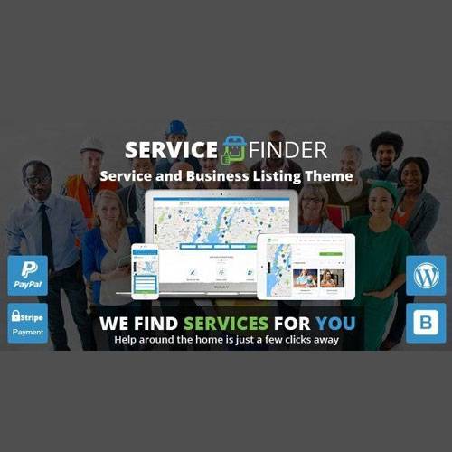 Service Finder Provider and Business Listing WordPress Theme