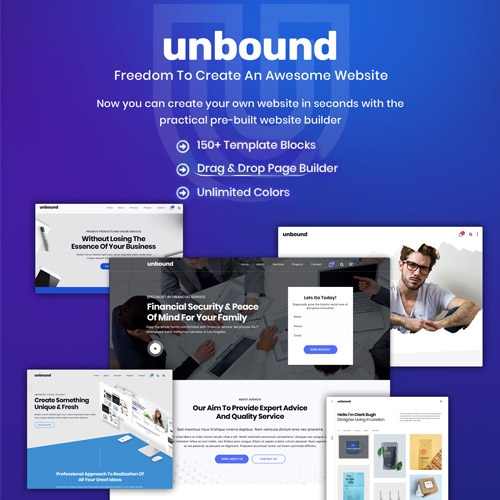 Unbound Business Agency Multipurpose Theme
