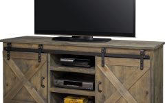 Rustic Country Tv Stands in Weathered Pine Finish