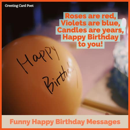 Funny Happy Birthday Messages To Bring Out Smiles Greeting Card Poet