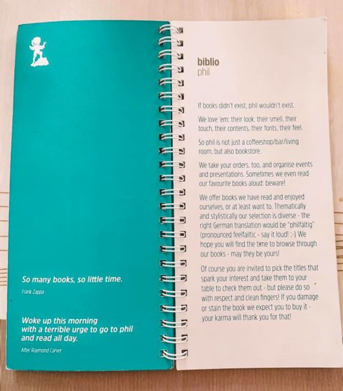 book from Phil in Austria with English writing
