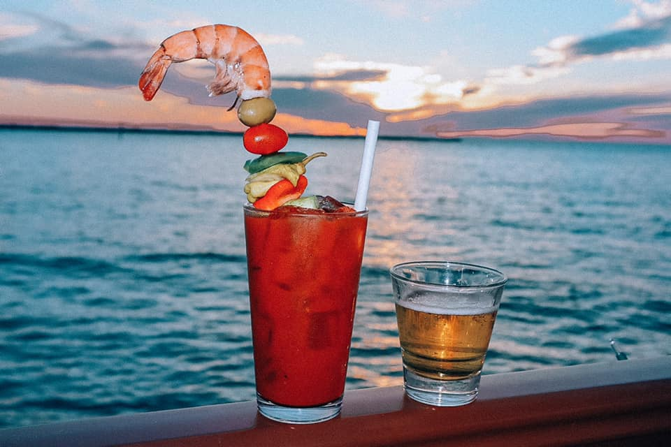 Best Beach Bar Clearwater Beach Jimmy's Bloody Mary and beer chaser