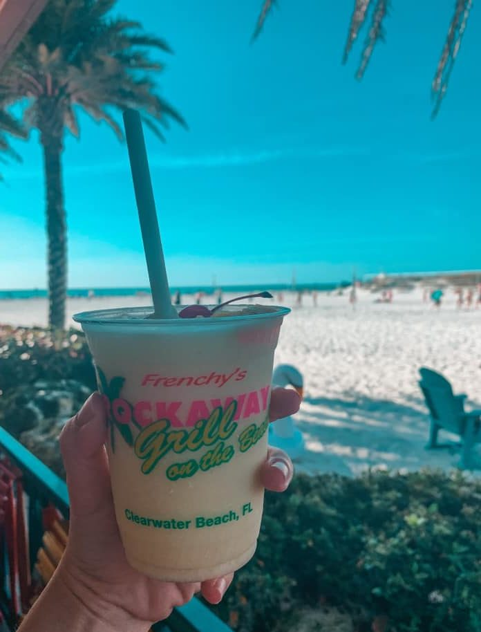 Best Beach Bar Clearwater Beach best pina colada Frenchy's loopy lada