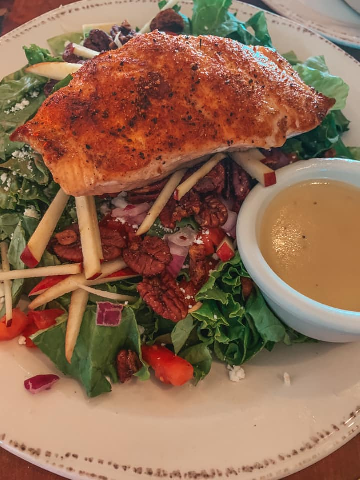 salmon salad from Brewhouse Terminal