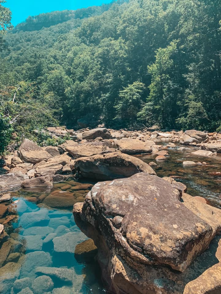 Beautiful North Chick Blue Hole in Chattanooga