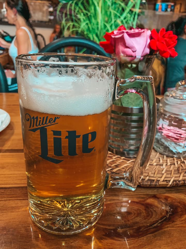 One of the large beer steins you can get at Bodensee Restaurant