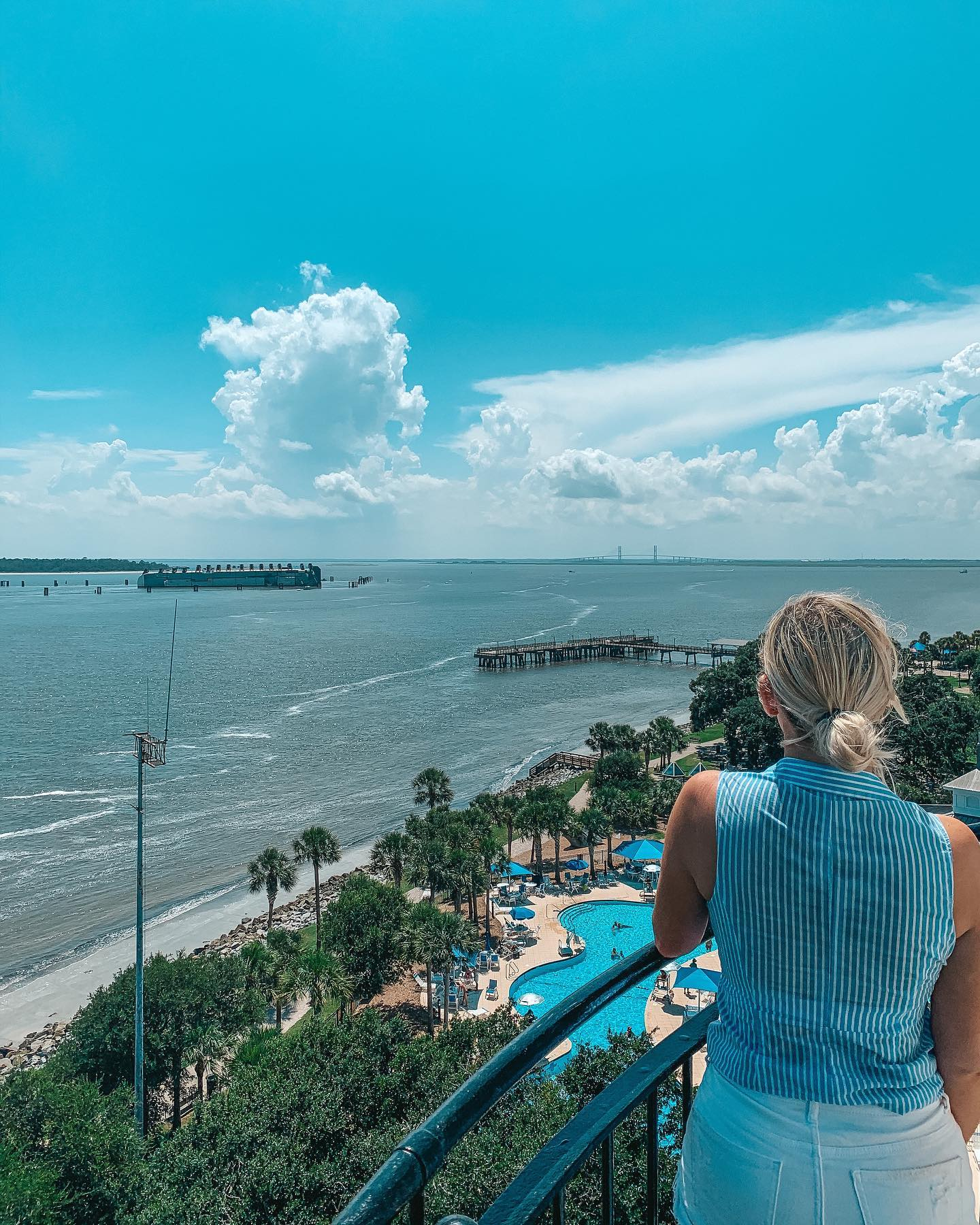 View from the top of St Simons Island Lighthouse