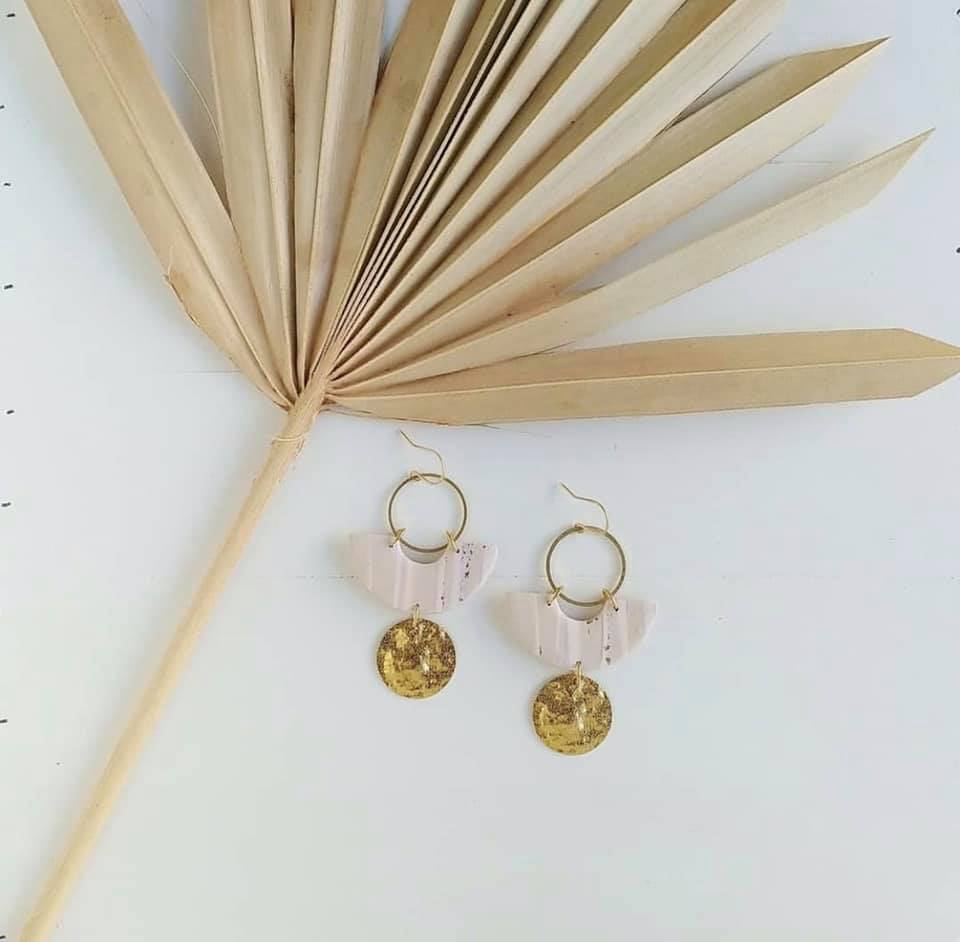 Perfect sentimental gift for traveler, Clay Pelican earrings infused with local sand
