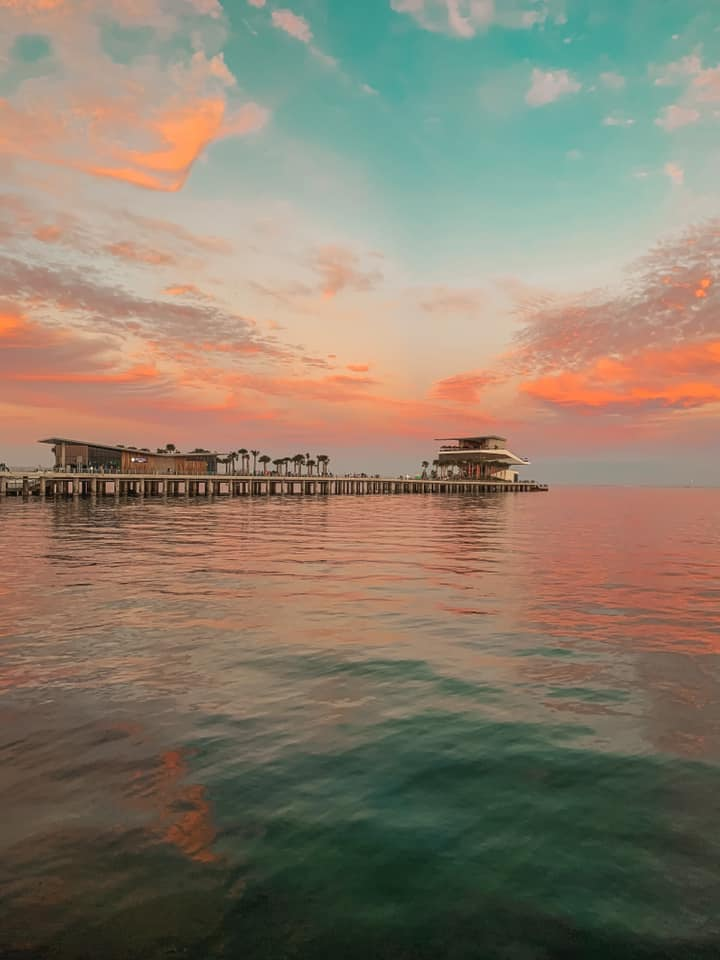 St. Pete Pier and ocean at sunset