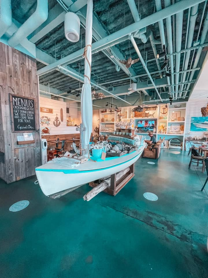Beautifully decorated beach themed coffee shop Southern Grind