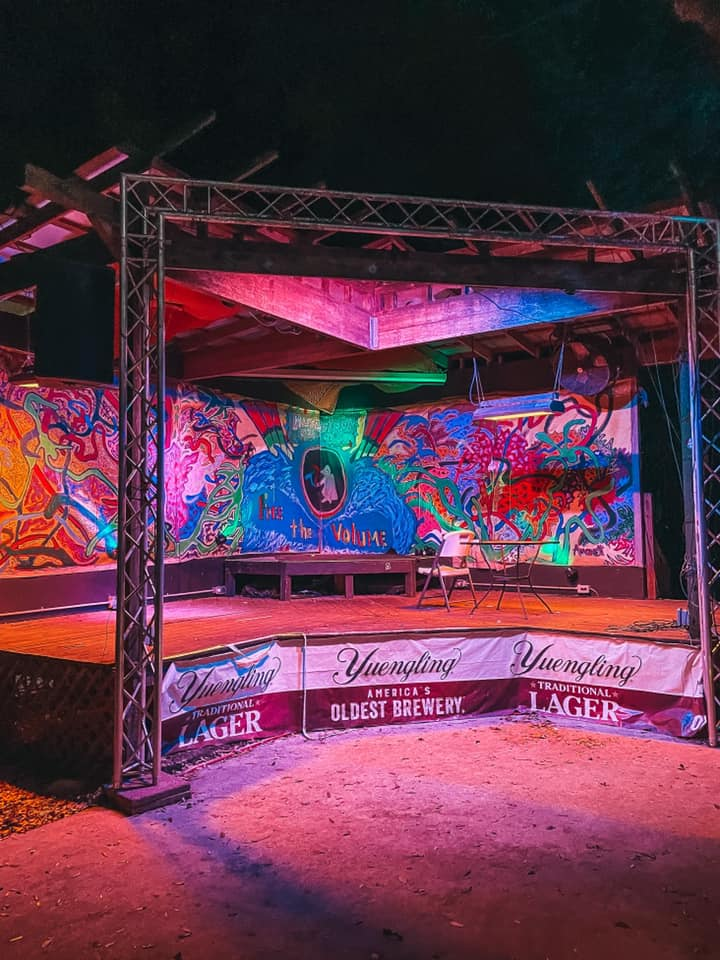 Outdoor stage area of Juke Joint
