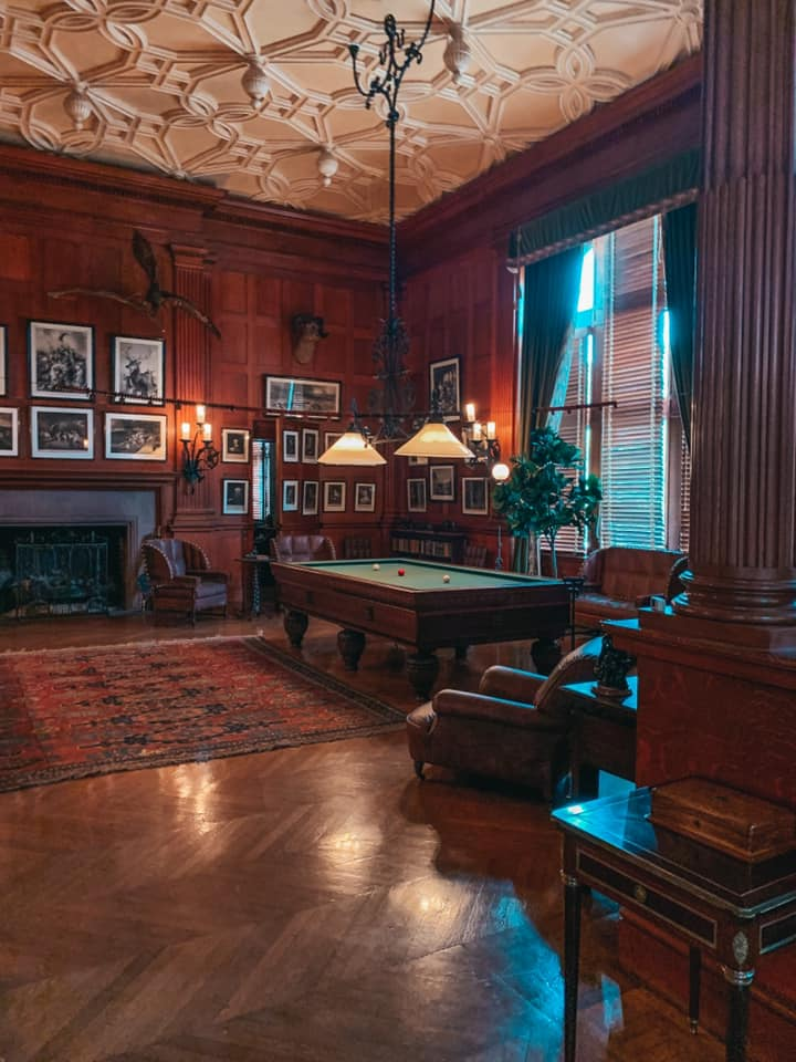 Inside the game room of Biltmore home