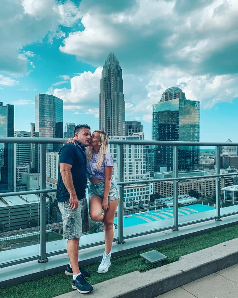 Views from rooftop in Charlotte, North Carolina