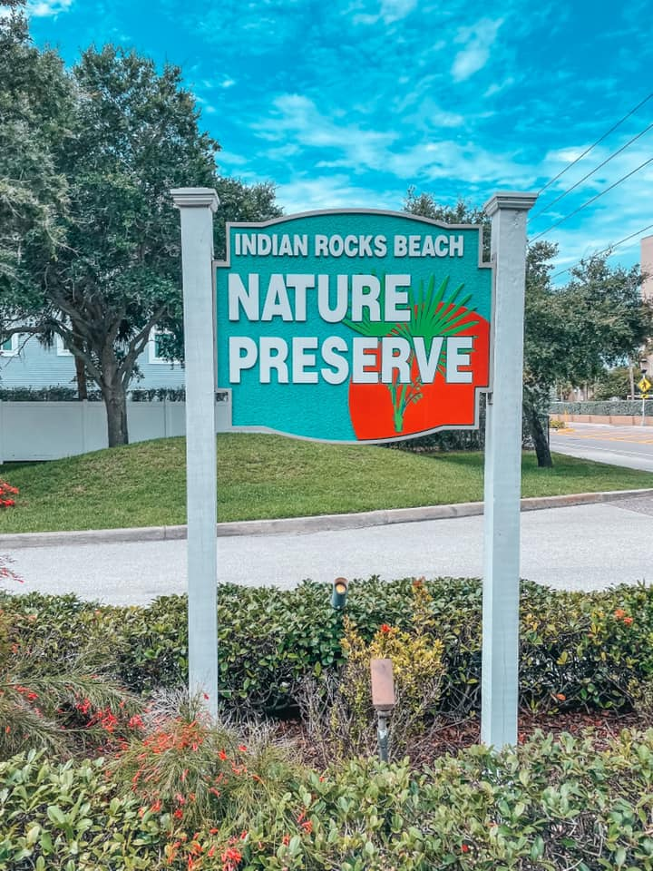 Things to do in Indian Rocks Beach Nature Preserve sign