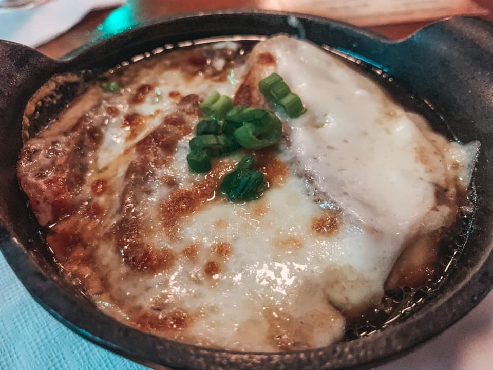 French onion soup from Pack's Tavern