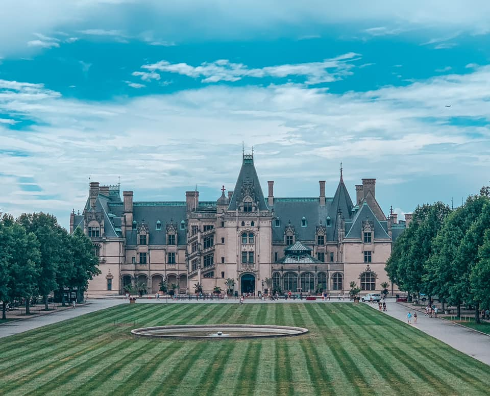 View of the Biltmore home on a partially cloudy day