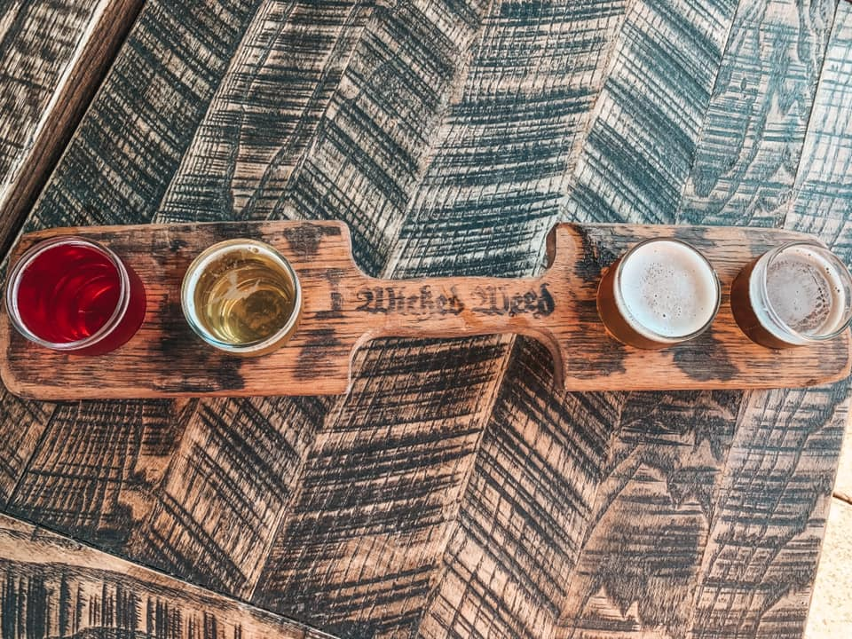 Flight from Wicked Weed in Asheville