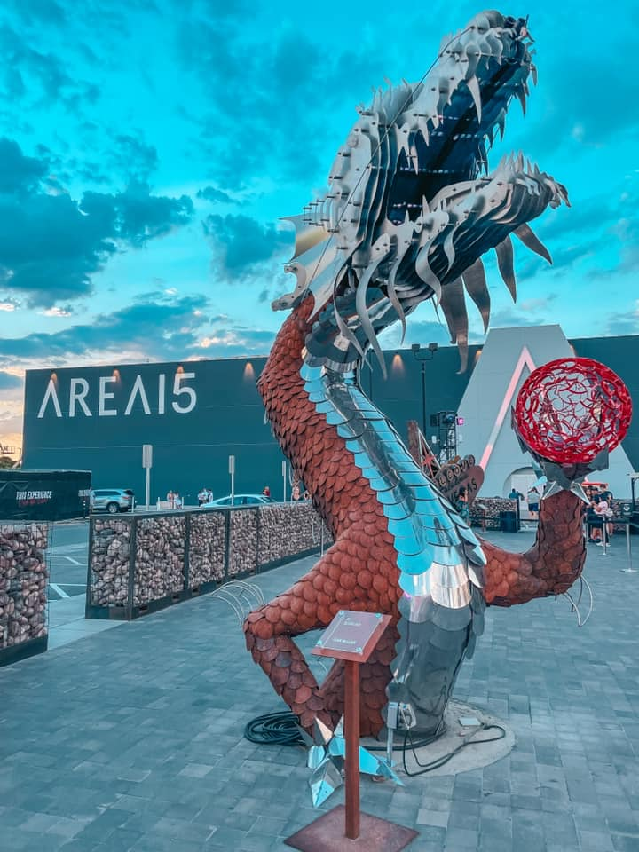 entrance to Area 15 in Vegas