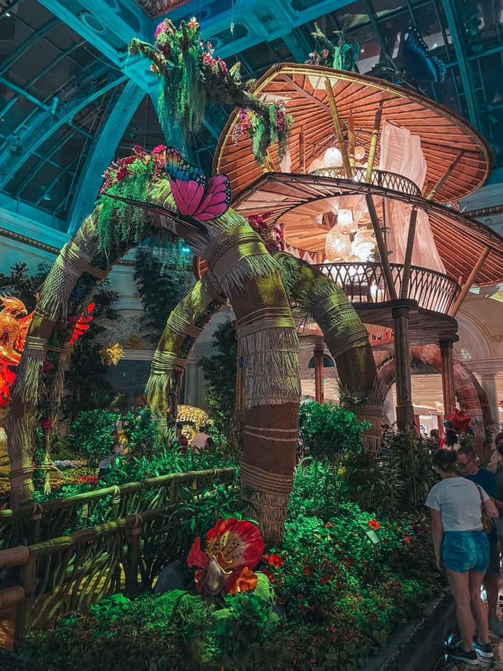 Beautiful Gardens and Conservatory at the Bellagio