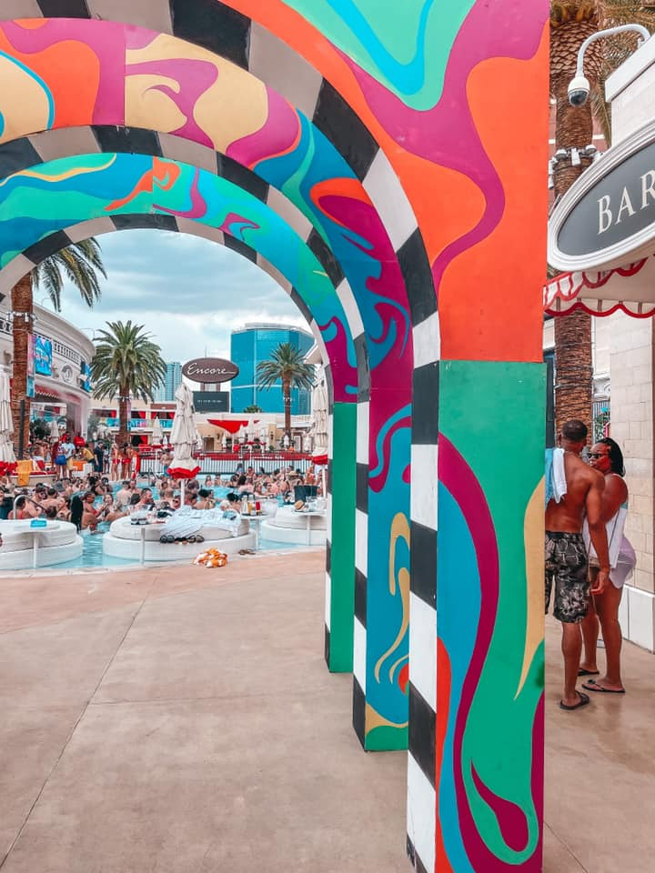 daytime pool party at Encore Beach Club