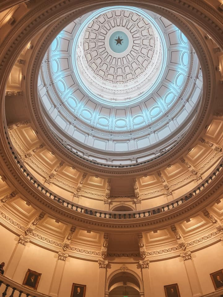 Inside of the Texas State Capitol in downtown Austin