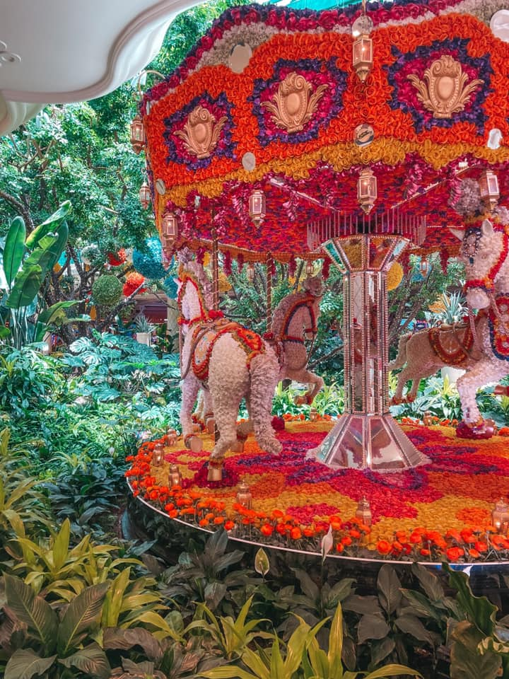 Flora covered marry-go-round at The Wynn Las Vegas