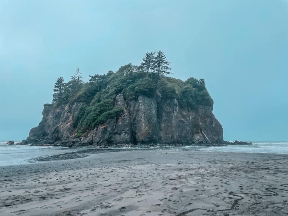 Foggy day at Ruby Beach outside of Seattle
