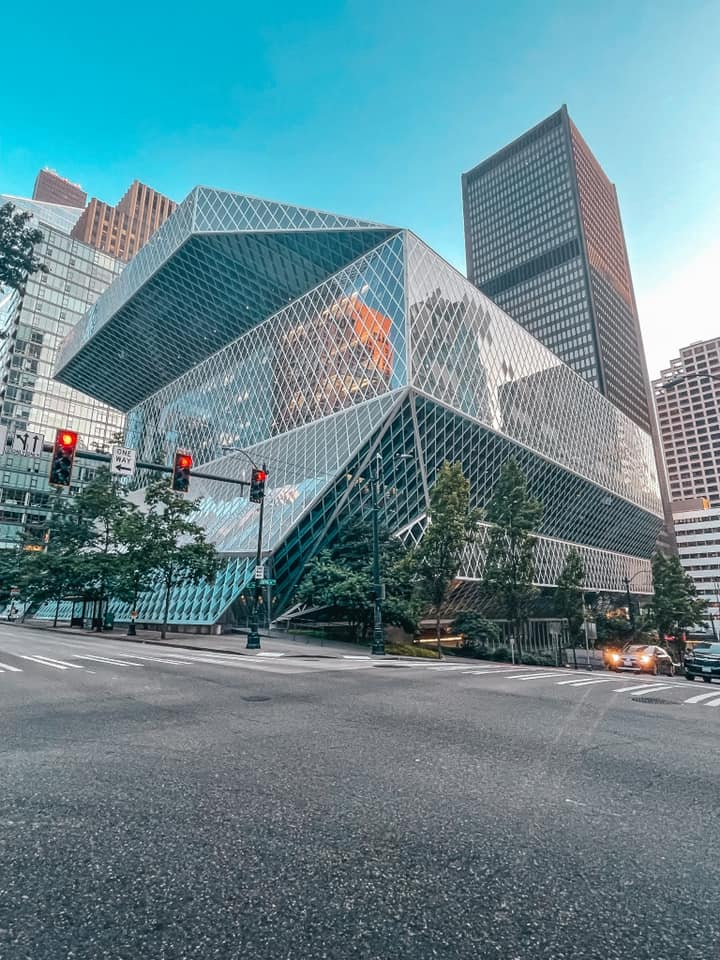 Outside view of Seattle Public Library