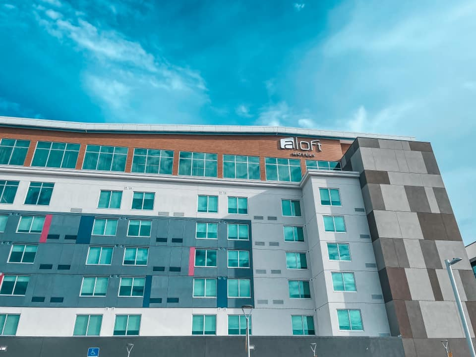 the facade of View of Aloft Midtown Tampa