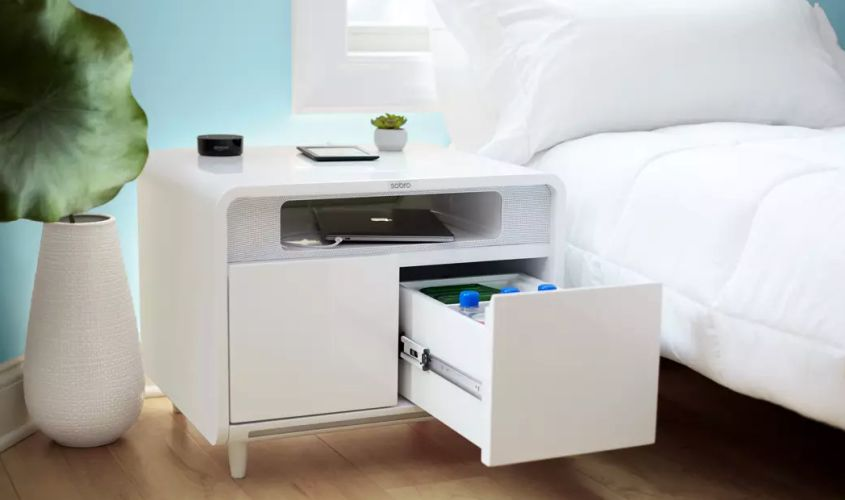 Sobro Smart Side Table Combines Fridge Charging And Sleep Technology
