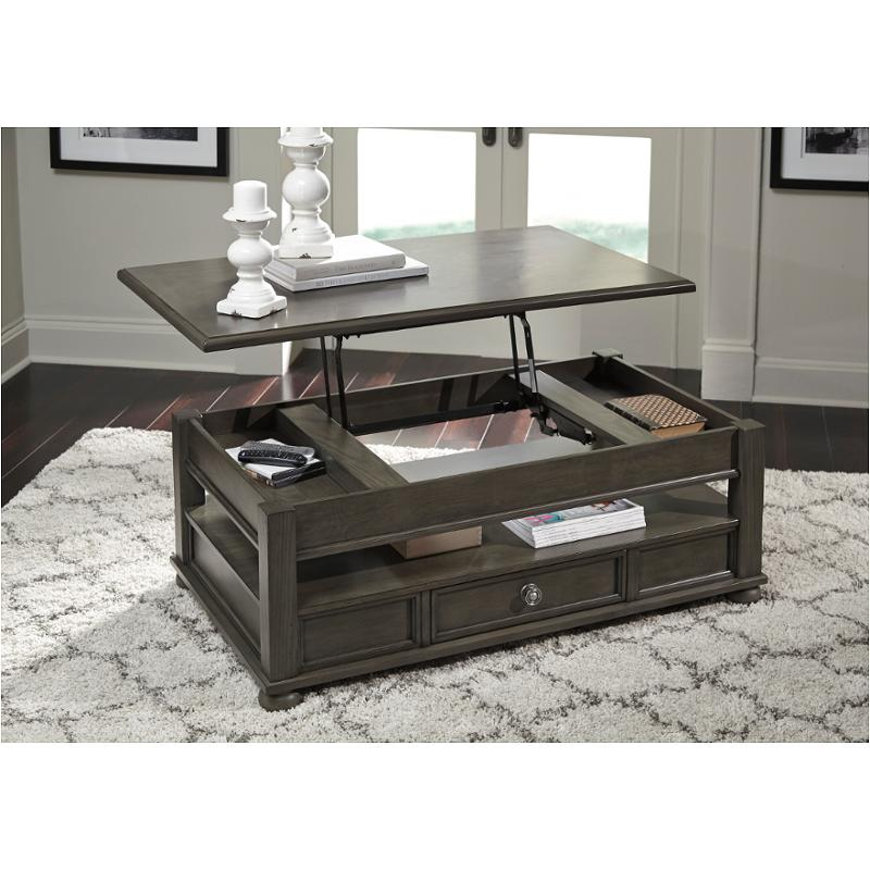 T534 9 Ashley Furniture Devenstead Lift Top Cocktail Table