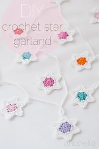 Free Crochet Patterns Star Christmas Banner
