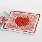 Free Crochet Patterns for Heart Dishcloths for Valentine's Day