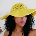 Free Crochet Patterns for a Wide Brim Sun Hat and Beach Hat