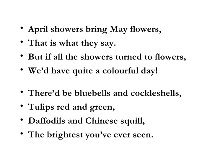 April Poems 7