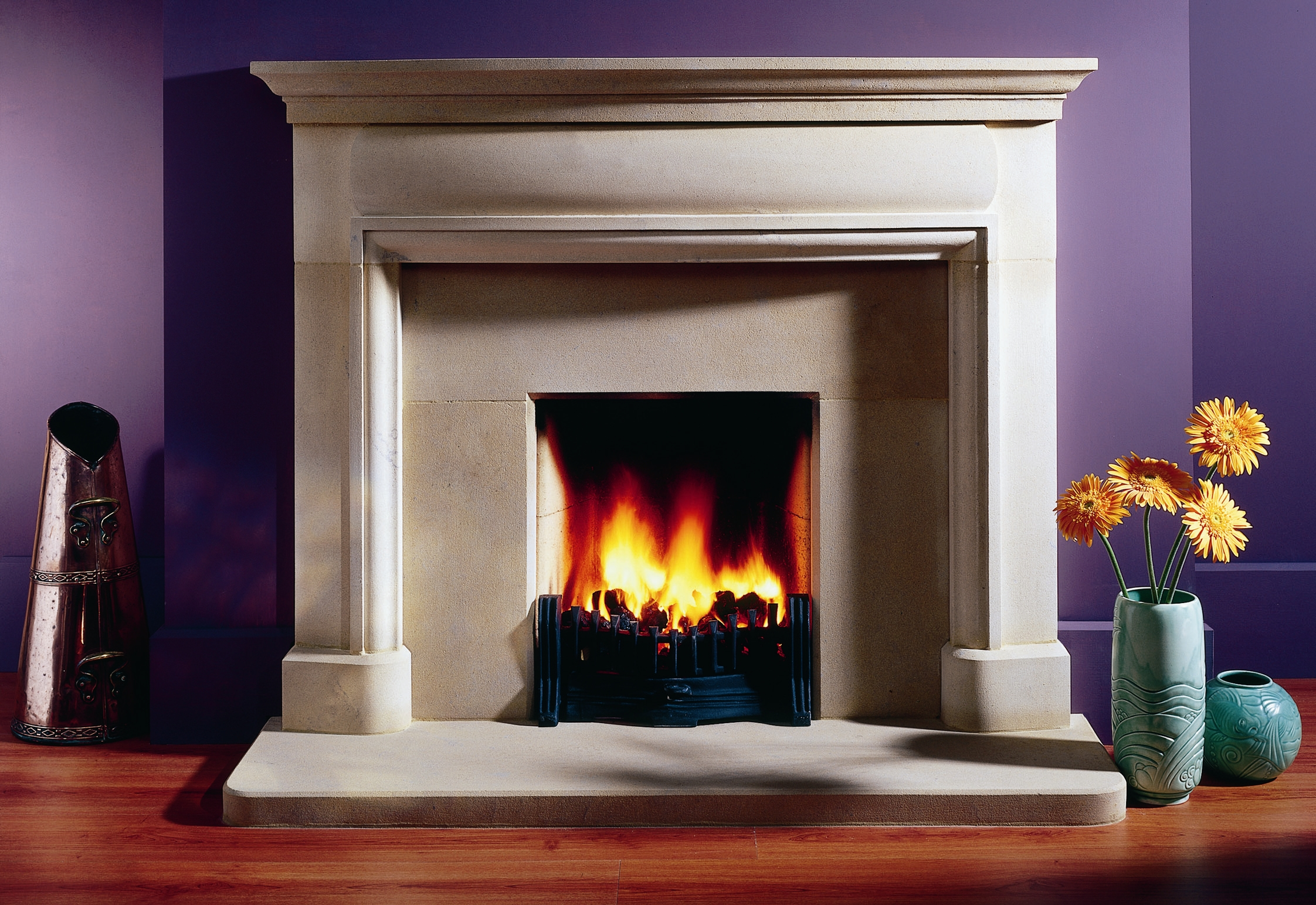 10. Classical Bathstone fireplace – Notting Hill