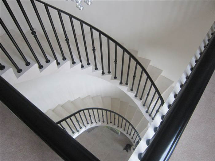 39. Moleanos stone, two-storey cantilever staircase – Lancashire