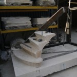 setting the treads of a stone staircase