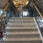 top staircase at the grosvenor pulford hotel and spa