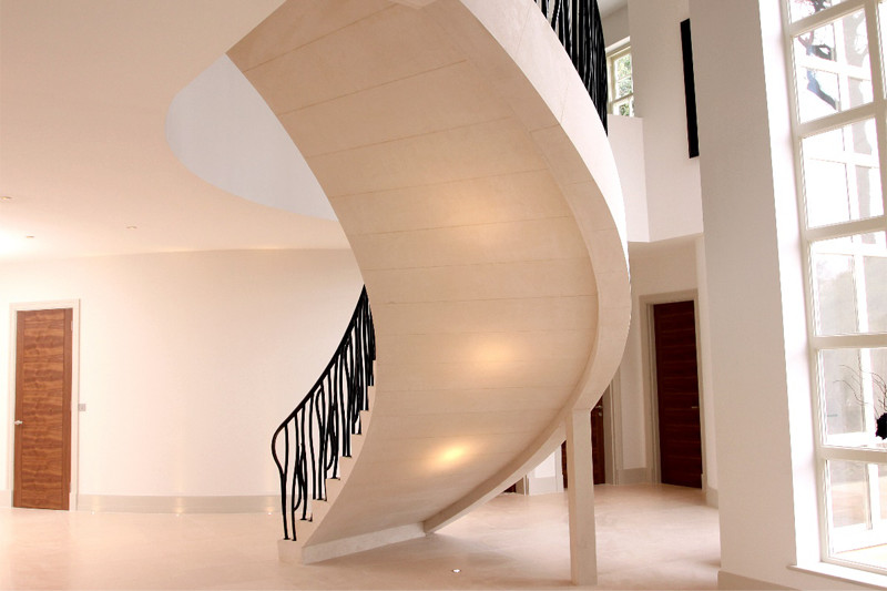Floating Moleanos Stone Staircase Rear