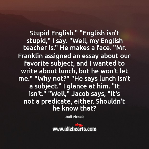English Subject Quotes 3