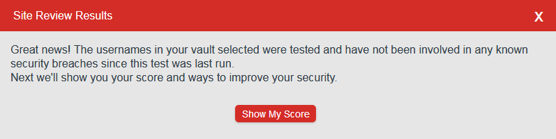 LastPass Security Challenge check emails for security breaches