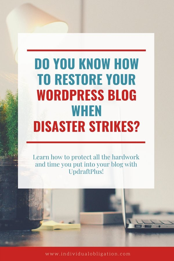 Do you know how to restore your wordpress blog when disaster strikes?