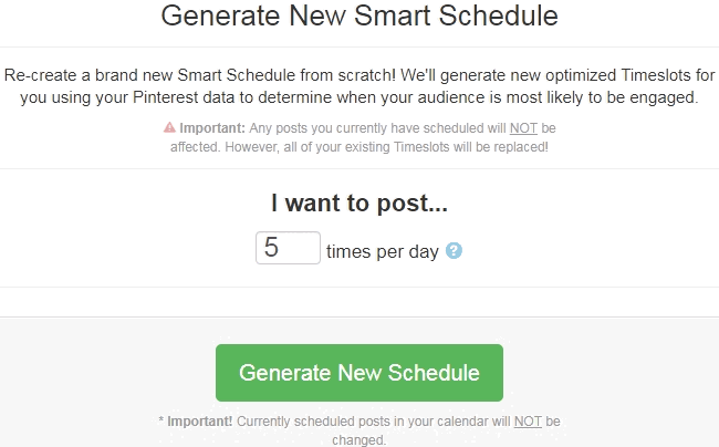 Tailwind Pinterest app schedulers smart schedule setup for optimal pin times