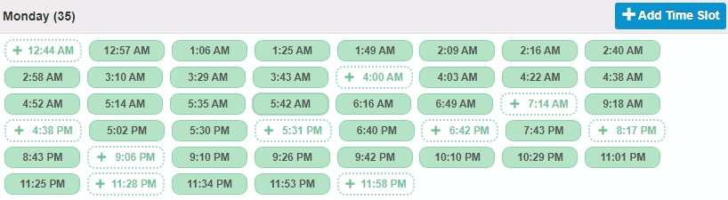 Tailwind Pinterest app schedulers smart schedule with generated and suggested time slots