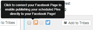 Tailwind Pinterest app schedulers cross posting ability for twitter and Facebook pages