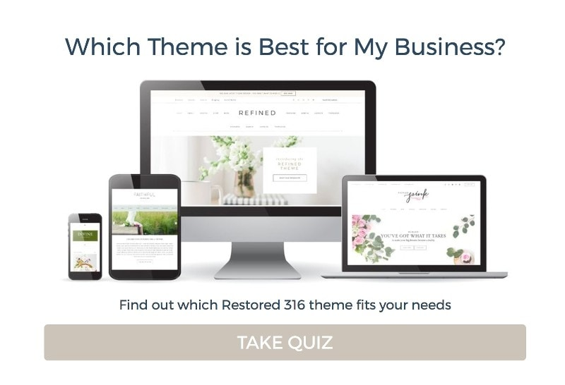 Start a wordpress blog with the right theme using this quick quiz
