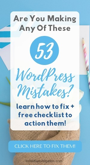 When start a wordpress blog are you making any of these 53 wordpress mistakes?
