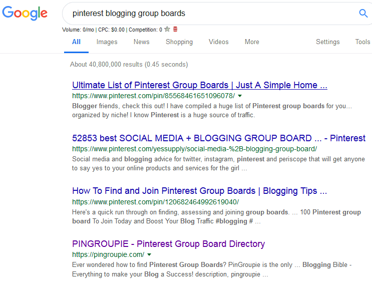 Pinterest group boards google search to find curated lists of pinterest boards